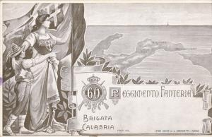 60 Reggimento Fanteria , Brigata , Calabria , Italy , 1890s