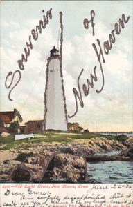Old Lighthouse New Haven Connecticut 1906