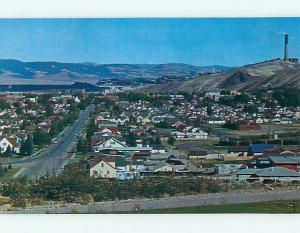 Unused Pre-1980 AERIAL VIEW OF TOWN Anaconda Montana MT t4999