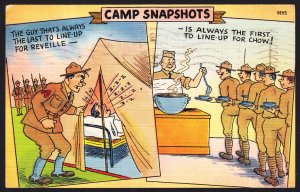 Camp Snapshots – Comic WW II linen - Ebert -
