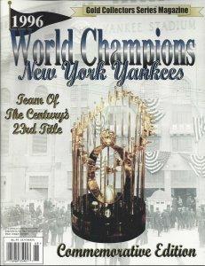 1996 World Champions New York Yankees Gold Collectors Series Magazine