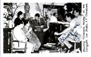 RPPC SAN FRANCISCO, CA  California  MOVIE SET CHINATOWN Signed  c1950s Postcard