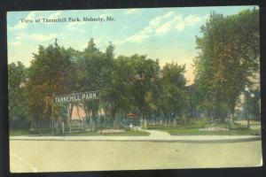 MOBERLY MISSOURI TANNEHILL PARK VINTAGE POSTCARD MO.