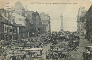 Postcard Canada montreal bonsecours market on jacques square tower street