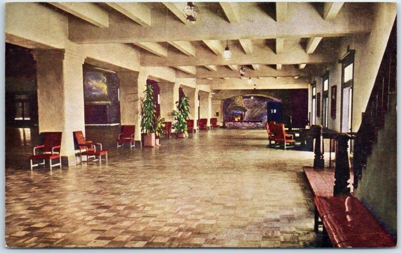 Fort Ord, California Postcard Foyer, Soldiers' Club Monterey County U.S. Army