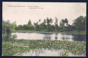 Cedar Lake Nook Columbia City Indiana unused c1910's