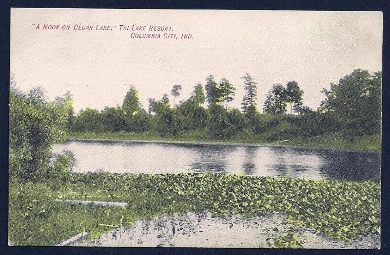 Cedar Lake Nook Columbia City Indiana unused c1910's