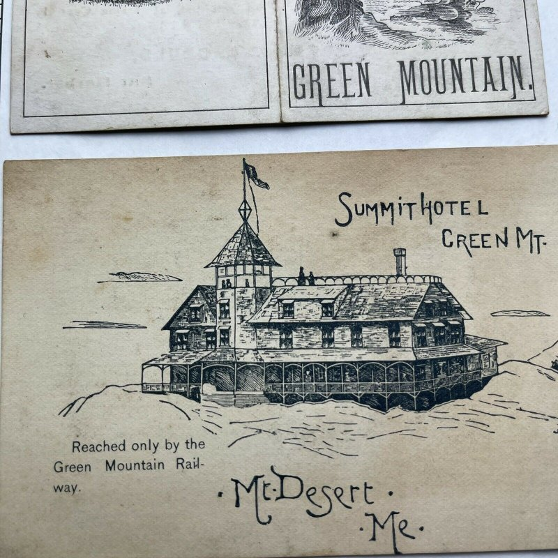 RARE SUMMIT HOTEL - GREEN MOUNTAIN - MT. DESERT , ME - ADVERTISING CARD