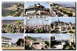Old Postcard Arcachon G D Beach and jetties The Beach Post The Moorish Casino...