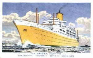 S.S. Orsova Orient Line Ship Postcard Unused