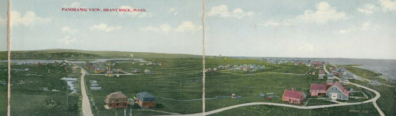 TRI-FOLD PC, BRANT ROCK , Massachusetts , 1900-10s; Panoramic View