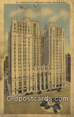 Boston, MA USA,  Post Office Postcard, Postoffice Post Card Old Vintage Antiq...
