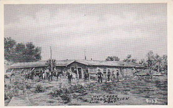 Wyoming Hat Creek Stage Station & Fort / HipPostcard