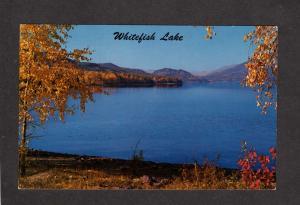 MT Whitefish Lake Big Mtn Ski Resort Montana Postcard