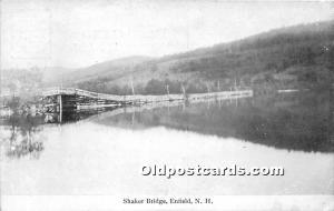 Old Vintage Shaker Post Card Bridge Enfield, New Hampshire, NH, USA Unused