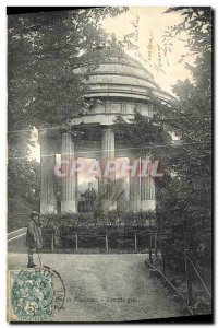 Postcard Old Vincennes Wood Greek Temple
