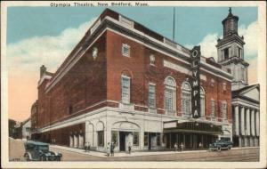 New Bedford MA Olympia Theatre c192 Postcard - Marque