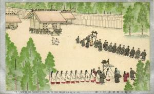 japan, His Majesty visiting the Great Shrine of Ise (1910s)