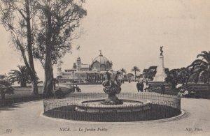 NICE, Provence-Alpes-Cote D'Azur, France, 1900-10s ; Le Jardin Public