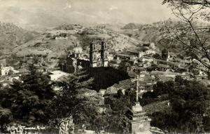 mexico, TAXCO de Alarcón, Guerrero, Partial View (1940s) RPPC