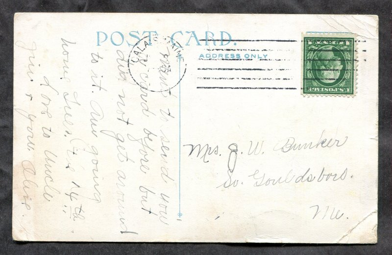 2842 - MILLTOWN NB 1910s Cotton Mill. Factory. Mailed from US. Booklet Stamp