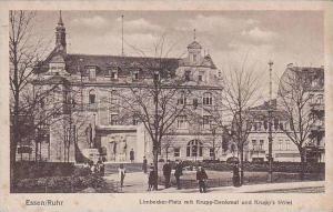 Germany Essen Limbecker Platz mit Krupp Denkmal und Krupps Hotel