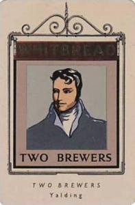 Whitbread Brewers Vintage Metal Trade Card Inn Signs 1st Series 1949 No 38 Tw...