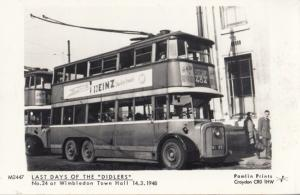 Number 24 Bus at Wimbledon Town Hall in 1948 Heinz Beans Advert RPC Postcard