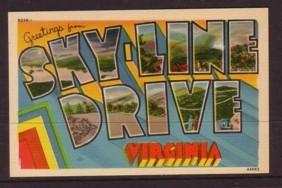 Virginia Post Card Skyline Drive greetings