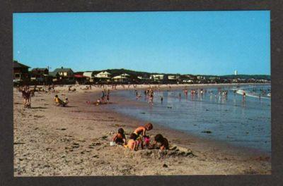 MA Long Beach ROCKPORT MASS MASSACHUSETTS Postcard PC
