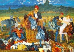 Spanish Art Postcard, Ferisa de gallos H. Anglada Camarasa Museo Del Pintor BO7