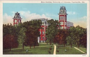 FAYETTEVILLE - MAIN BUILDING, UNIVERSITY OF ARKANSAS - View of the building 1940