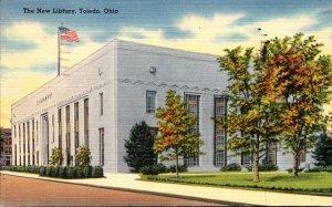 Ohio Toledo The New Library 1950