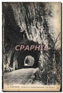 Postcard Old Route Dauphine Grande Chartreuse Tunnels