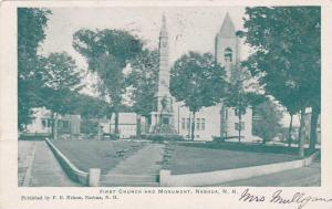Exterior,  First Church and Monument,  Nashua,  New  Hampshire,  PU_1907