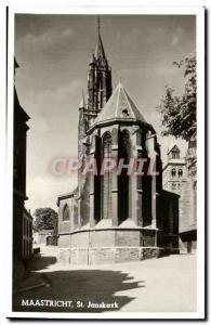 Old Postcard Maastricht St Jankerk