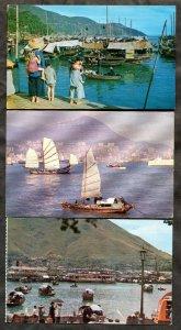 3452 - HONG KONG Lot of (3) 1970s Postcards