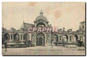 CARTE Postale Old Chateau de Chantilly Main Entree