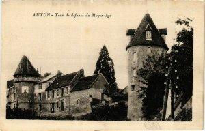 CPA Autun Tour de defense du Moyen-age FRANCE (952574)