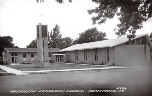 Armstrong Iowa~Nazareth Lutheran Church~1950s Real Photo Postcard~RPPC