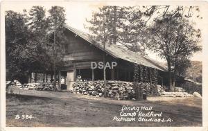 C44/ Redlands Camp Radford California Ca Postcard Photo RPPC 1923 Dining Hall