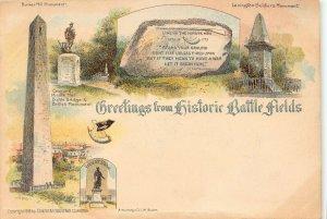 LP39 Historic Battlefields Lexington  Massachusetts Postcard  American Souvenir