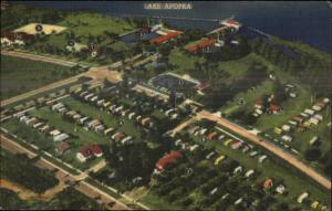Lake Apopka FL Trailer City Winter Garden FL Linen Postcard