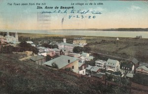 STE. ANNE DE BEAUPRE, Quebec, Canada, PU-1920; The Town Seen From The Hill