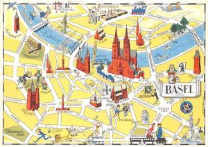 Switzerland Basel Schweizerische Bankgesellschaft Stadtplan