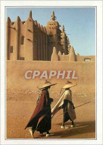 Postcard Modern Mali Djenne mosque clay