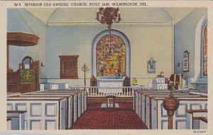 Interior Old Swede's Church, Built 1698, Wilmington, Delaware, 1930-1940s