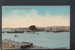 Canada Postcard - Part of The Docks, St John, New Brunswick    RS20782