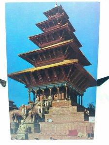 Nyatpola Temple Bhaktapur Nepal Photo by Mr M Hirano Vintage Postcard
