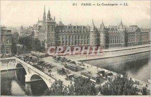 Postcard Old Paris La Conciergerie LL Tramway